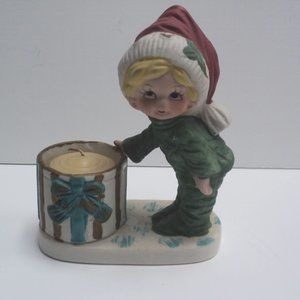 Vintage Jasco Christmas Luvkins Boy in Santa Hat